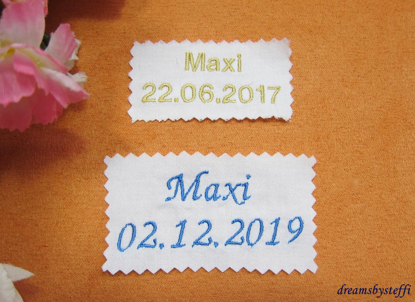 Gut gemocht Stickerei Name - Datum Schrift dick-dreamsbysteffi HV72